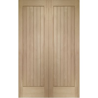 Oak Suffolk Internal French Door Pair  - Door Size, HxW: ...