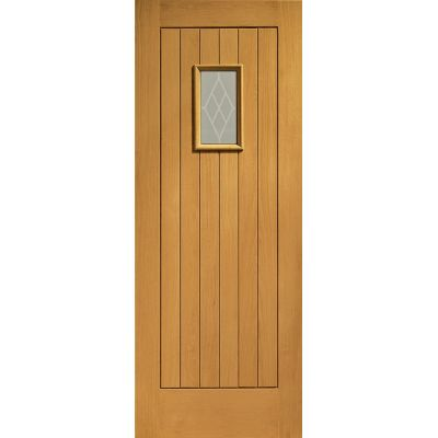 Pre Finished Oak Chancery Glazed External Door Wooden Timber...