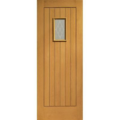 Pre Finished Oak Chancery Glazed External Door Wooden Timber  - Door Size, HxW: