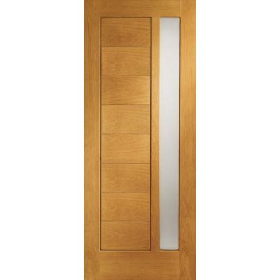 Pre Finished Oak Modena Glazed External Door Wooden Timber Double