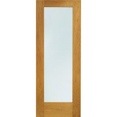 Pre Finished Oak Pattern 10 Glazed External Door Wooden Timber  - Door Size, HxW: