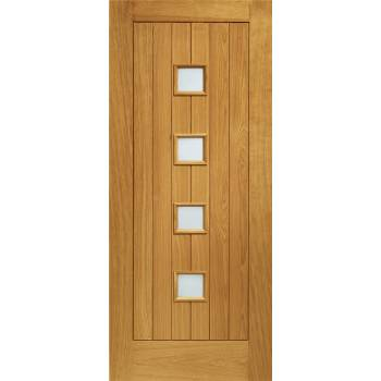 Pre Finished Oak Siena Glazed External Door Wooden Timber