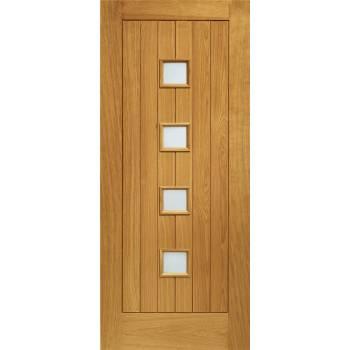 Pre Finished Oak Siena Glazed External Door