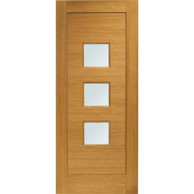 Pre Finished Oak Turin Glazed External Door Wooden Timber