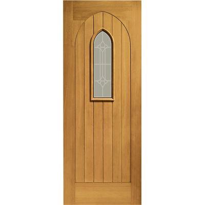 Pre Finished Oak Westminster Glazed External Door Wooden Timber