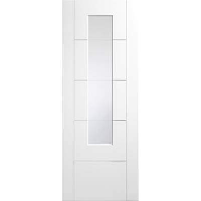 Portici Pre-Finished Clear Etched Glazed Internal White Door...