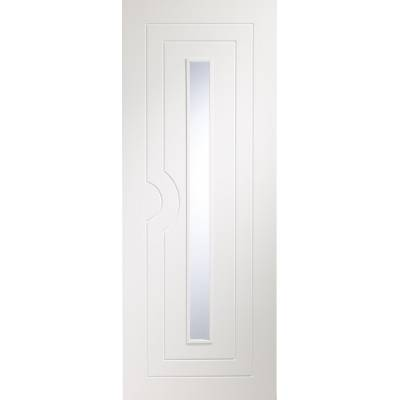 Potenza Pre-Finished Clear Glazed Internal White Door...