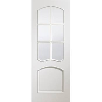 Riviera Pre-Finished Clear Bevelled Glass Internal White Door