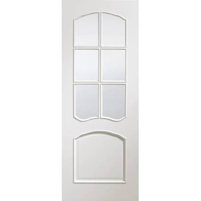 Riviera Pre-Finished Clear Bevelled Glass Internal White Doo...