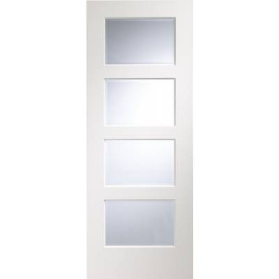 Severo Pre-Finished Clear Bevelled Glazed Internal White Doo...