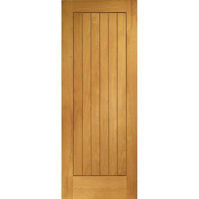 Pre Finished Oak Suffolk External Door Wooden Timber  - Door Size, HxW: