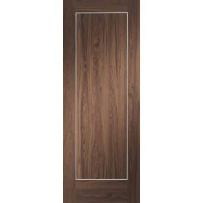 Pre-finished Varese Walnut Internal Fire Door Wooden Timber ...