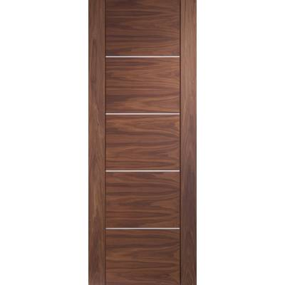 Pre-finished Portici Walnut Internal Door Wooden Timber  - D...