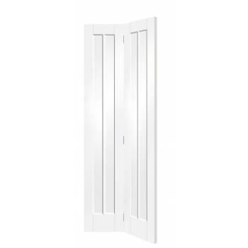 White Primed Worcester Bi-Fold Panel Internal Door Interior