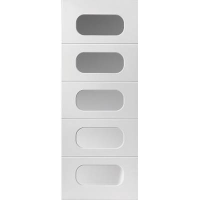 White Contemporary Arcadian - Door Size, HxW: