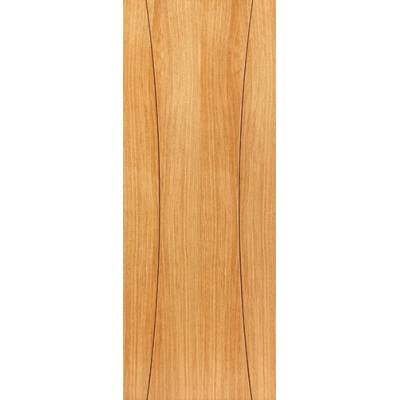 Pre Finished Contemporary Oak Arcos Fire Door - Door Size, H...