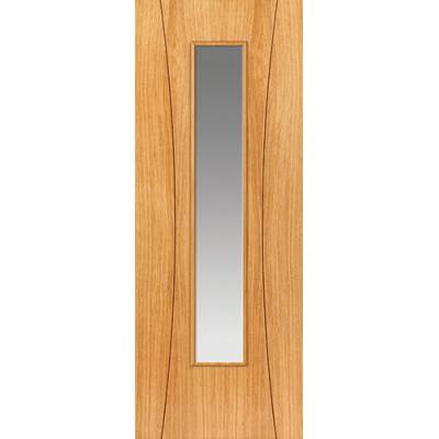 Pre Finished Contemporary Oak Arcos Glazed - Door Size, HxW:...