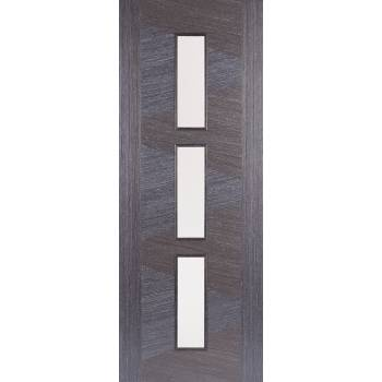 Pre-finished Zeus Ash Grey Glazed Internal Door Wooden Timber