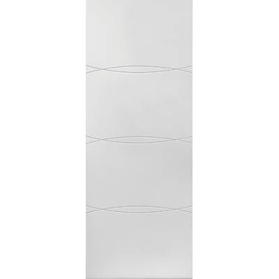 White Contemporary Aster - Door Size, HxW: