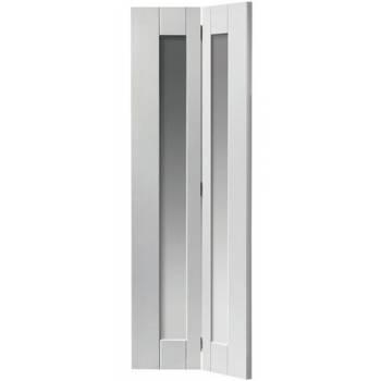 White Shaker Axis Clear Glazed Bi-fold