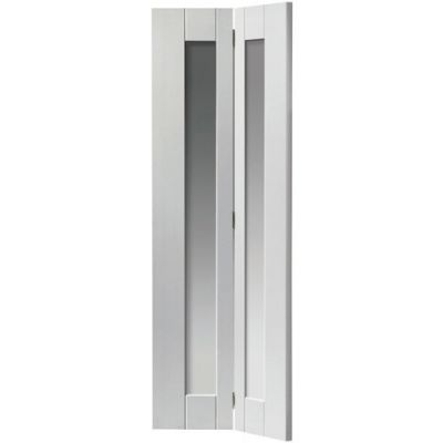White Shaker Axis Clear Glazed Bi-fold