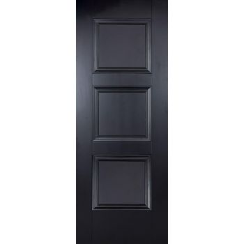 Black Primed Amsterdam Internal Door