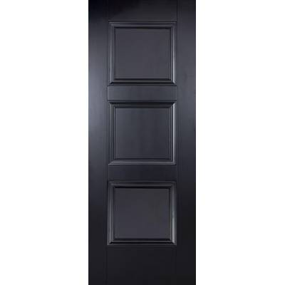 Black Primed Amsterdam Internal Door  - Door Size, HxW: ...
