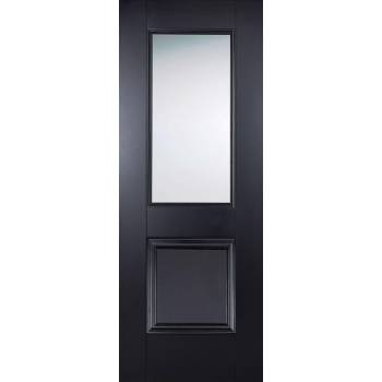 Black Primed Arnhem Glazed Internal Door