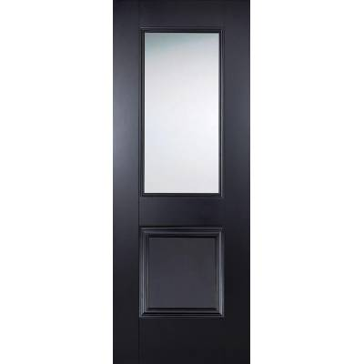 Black Primed Arnhem Glazed Internal Door  - Door Size, HxW: ...