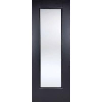 Black Primed Eindhoven Glazed Internal Door  - Door Size, Hx...