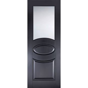 Black Primed Versailles Glazed Internal Door
