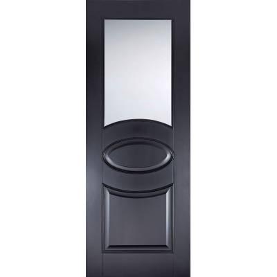 Black Primed Versailles Glazed Internal Door  - Door Size, H...