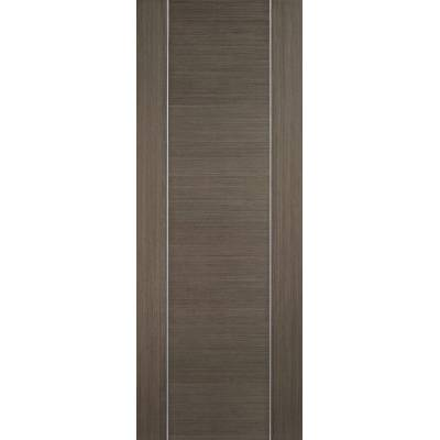 Pre-finished Alcaraz Chocolate Grey Internal Door Wooden Tim...