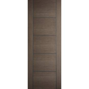 Pre-finished Vancouver Chocolate Grey Internal Door Wooden Timber