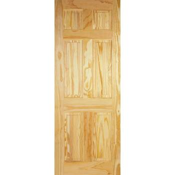 6 Panel Clear Pine
