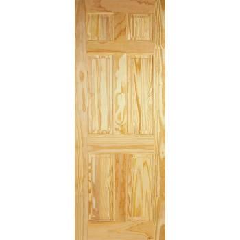 6 Panel Clear Pine Internal Door Wooden Timber