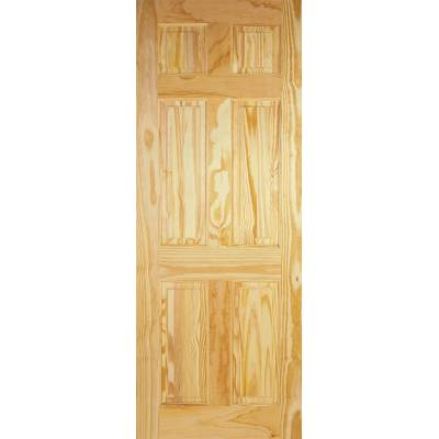 6 Panel Clear Pine Internal Door Wooden Timber - Door Size, ...