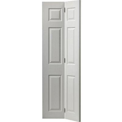 White Classic Colonist Bi-fold - Door Size, HxW: ...