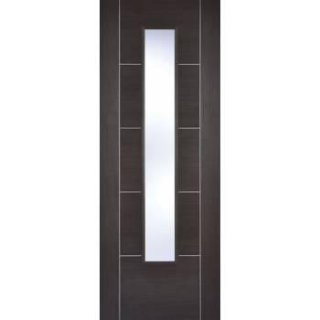 Pre-finished Vancouver Dark Grey Glazed Internal Door Laminate