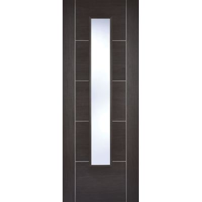 Pre-finished Vancouver Dark Grey Glazed Internal Door Laminate - Door Size, HxW: