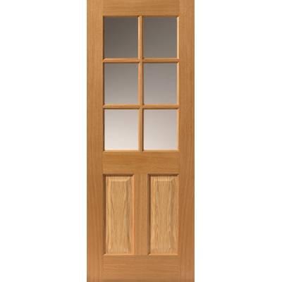 Pre finished Classic Oak Dean Internal Door  - Door Size, HxW: