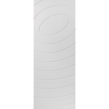 White Contemporary Eclipse Fire Door