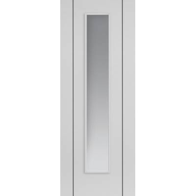Pre-finished White Contemporary Parelo Glazed - Door Size, H...