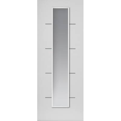 Pre-finished White Contemporary Blanco Glazed - Door Size, H...