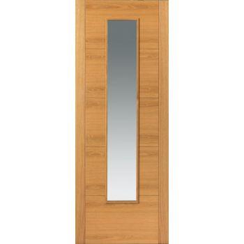 Pre Finished Contemporary Oak Emral Fire Door