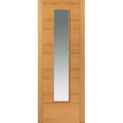 Pre Finished Contemporary Oak Emral Fire Door - Door Size, HxW: