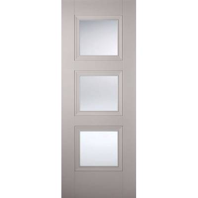 Grey Primed Amsterdam Glazed Internal Door  - Door Size, HxW...