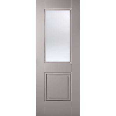 Grey Primed Arnhem Glazed Internal Door  - Door Size, HxW: ...