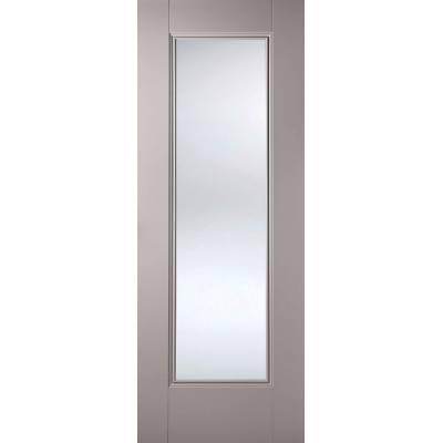 Grey Primed Eindhoven Glazed Internal Door  - Door Size, HxW...