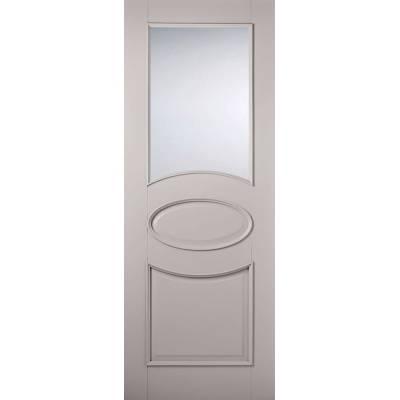 Grey Primed Versailles Glazed Internal Door  - Door Size, Hx...